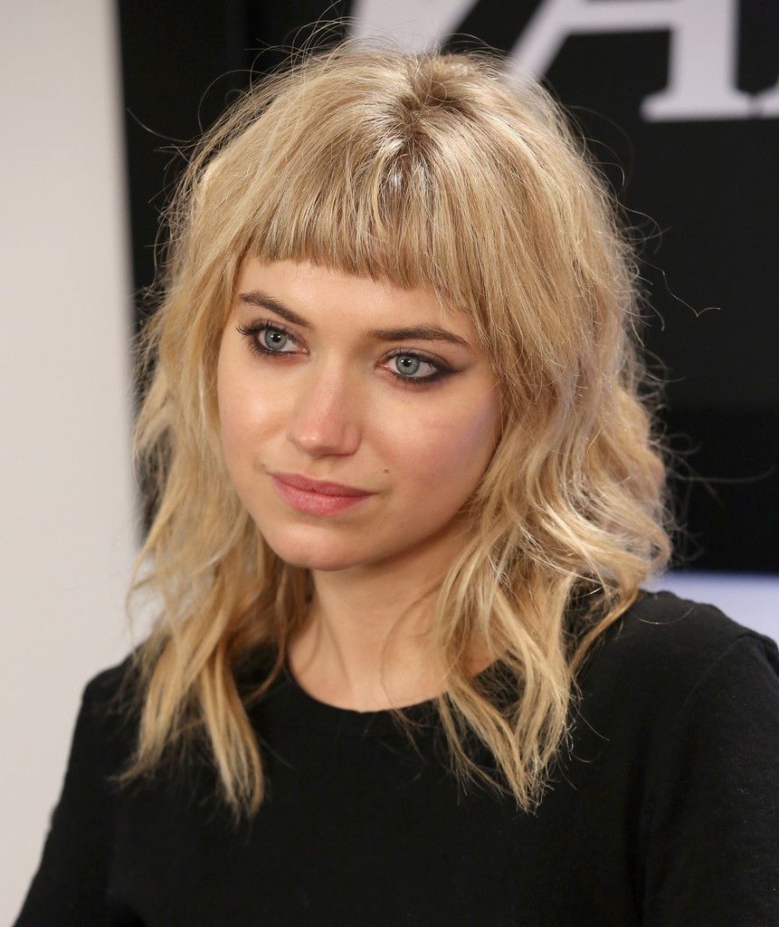 More pics of imogen poots medium wavy cut with bangs imogen poots