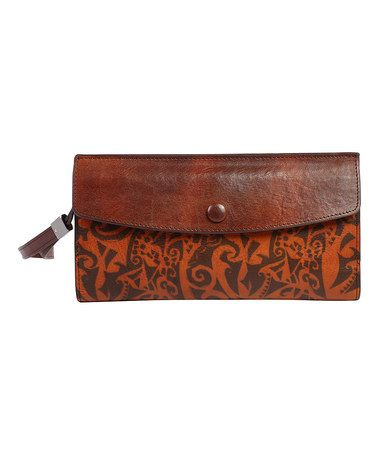 Another great find on #zulily! Cognac Leather Aster Wallet #zulilyfinds
