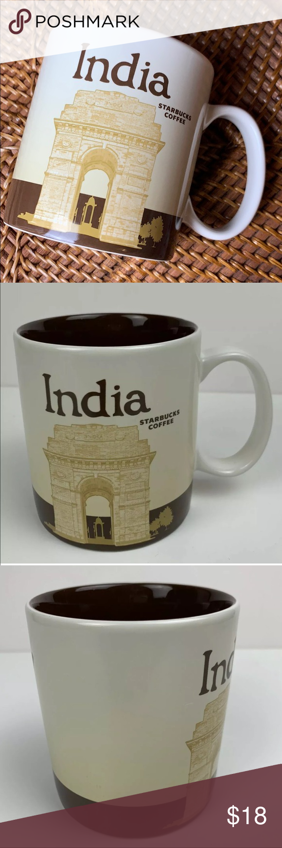 Starbucks India Ceramic Mug 16oz Coffee Cup 2012 Starbucks