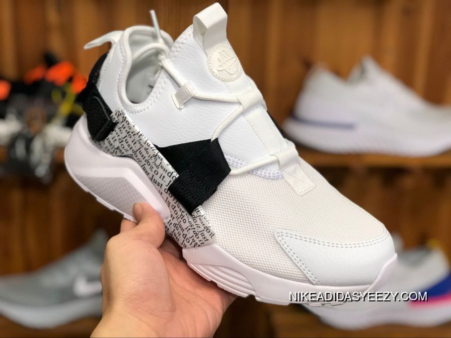 "buy popular 5889d 3ac68 Nike Air Huarache City Low ""Just Do It"" AO3140-100 White Black-Total Orange  New Style"