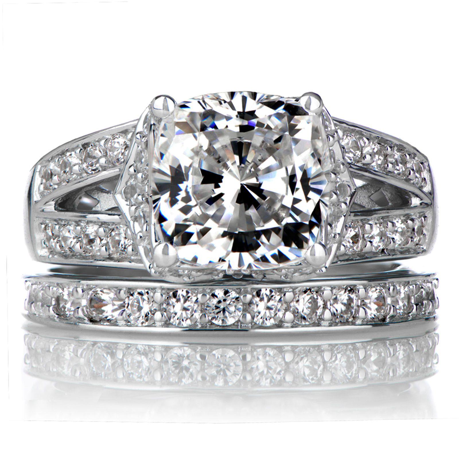 18K White Gold Diamond Band Size 4 5 6 7 2.70 Ct Diamond