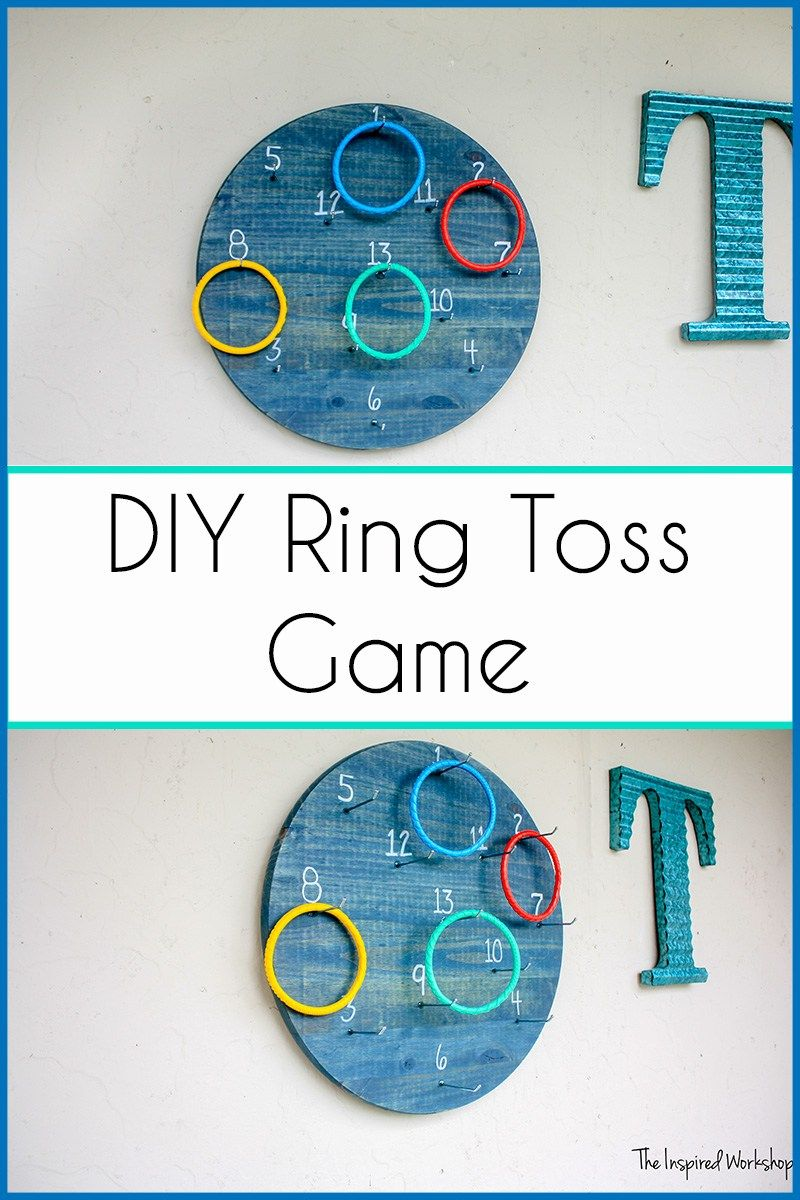 DIY Ring Toss Game Toss game, Diy rings, Ring toss