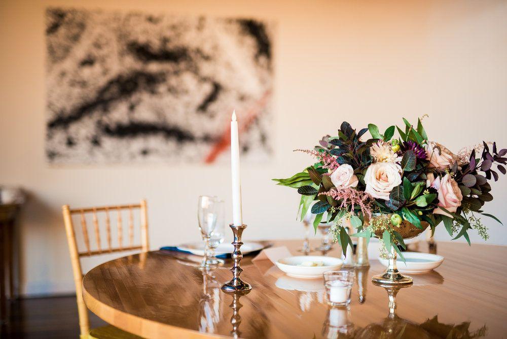 Intimate wedding reception at madison at the mill orange