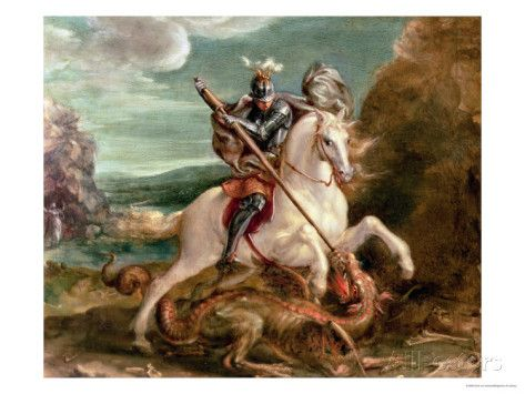 Image result for picture of st george slaying dragon