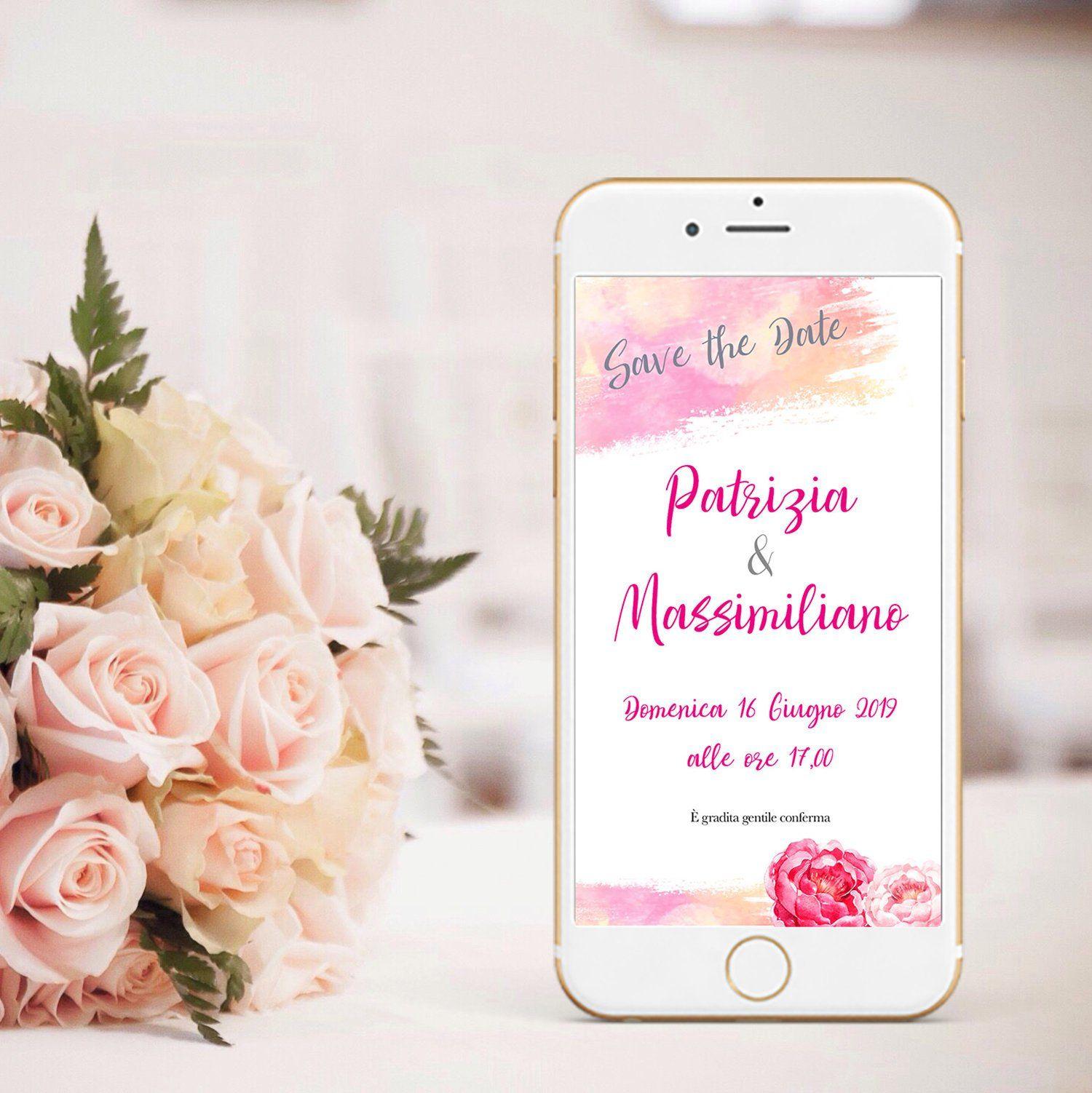 Partecipazioni Matrimonio Per Amici.Save The Date Matrimonio Invito Digitale Matrimonio Invito