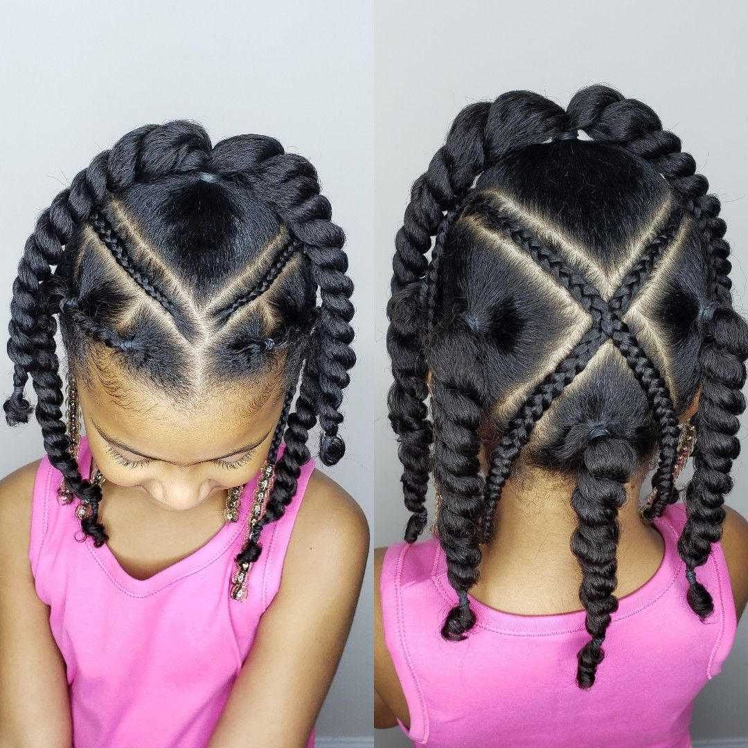 Protective Style For Girls Hair Styles Kids Hairstyles Kids Braided Hairstyles