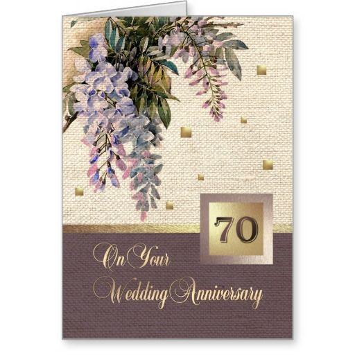 Happy 70th Wedding Anniversary Greeting Cards Zazzle Com