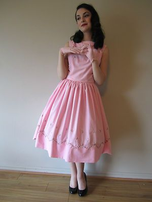 Vintage Jonathan Logan Pink Rockabilly Dress