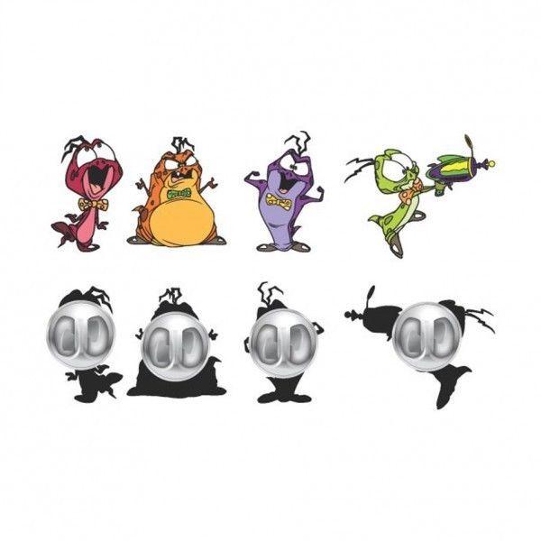 Space Jam 4 Pins Set Pinbacks Lapel Nerdlucks Monstars Looney Tunes