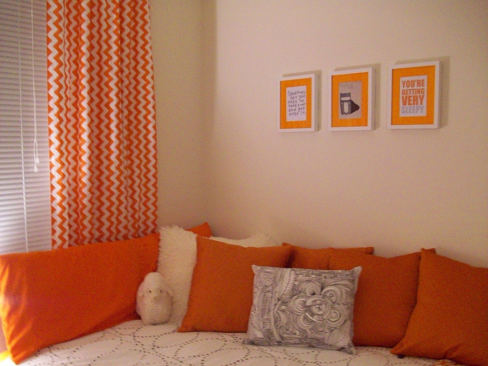 orange living room curtains. orange curtains and cushions with beige wall  cozy cute Orange Pinterest Beige walls