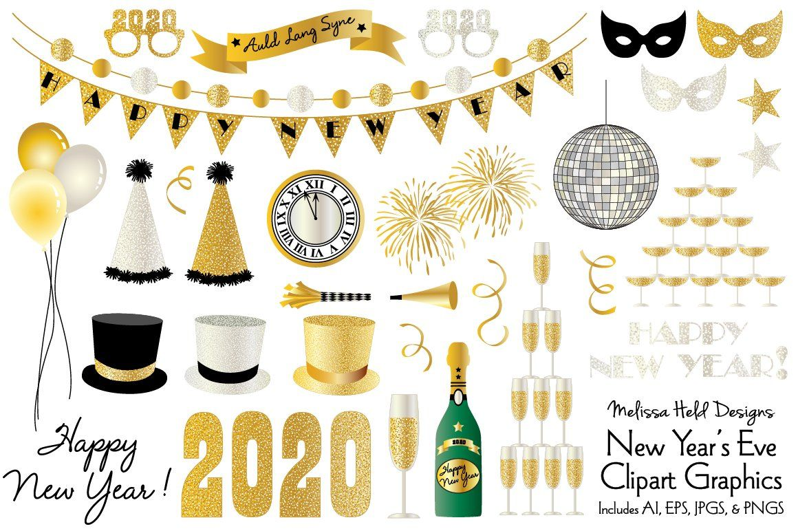 New Year's Eve 2020 Clipart New year's eve 2020, New