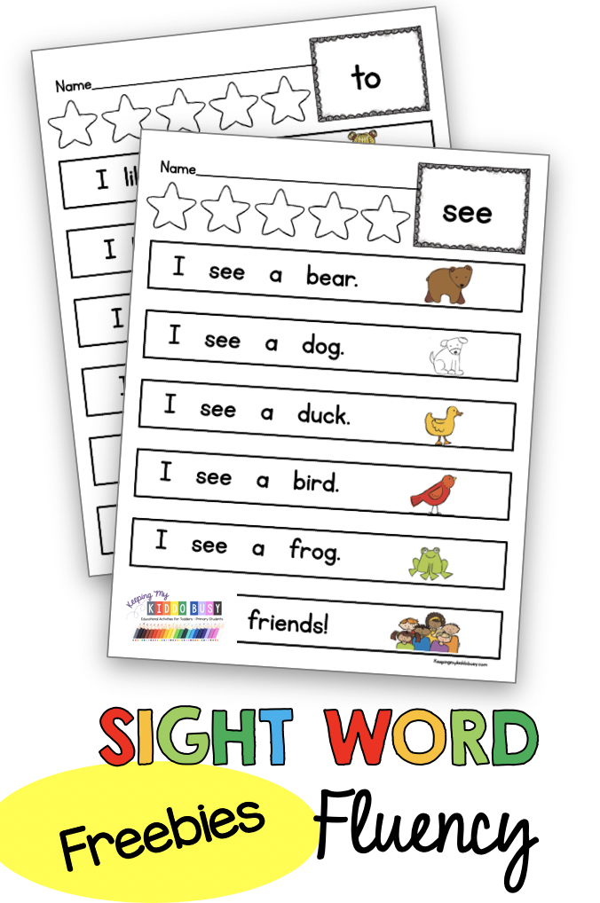 SIGHT WORD FREEBIE kindergarten sight word practice small group independent work word wall