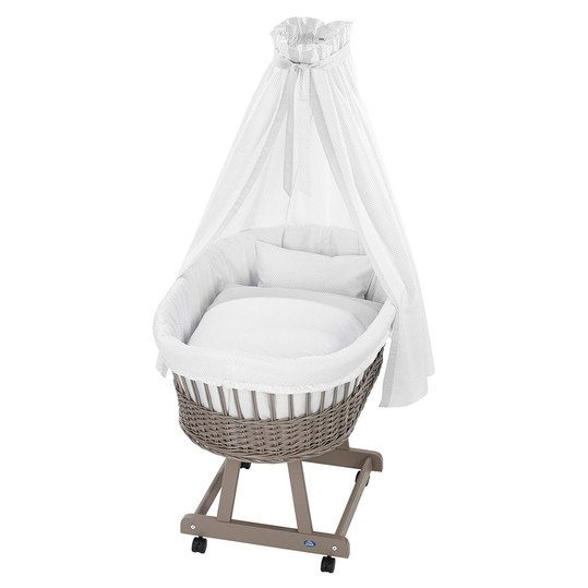 alvi komplett stubenwagen birthe taupe elefant baby. Black Bedroom Furniture Sets. Home Design Ideas