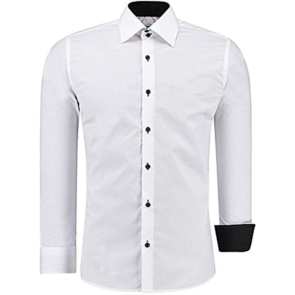 Herrenhemd Herren Hemd Business Hemden Hochzeit Freizeit Slim Fit Langarm Shirt