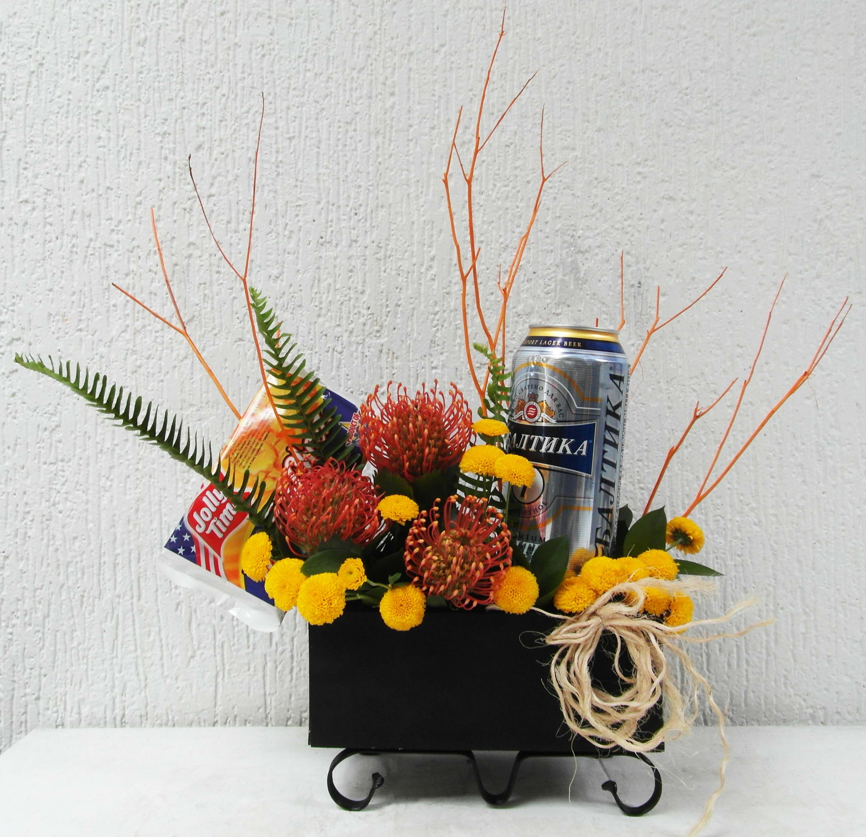 Flores Con Cerveza Y Popcorn Flores Para Hombre Flores En