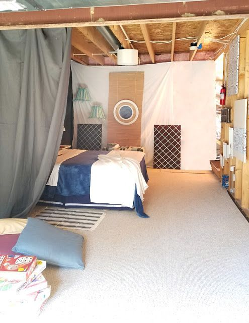 Photo of How to create an inexpensive bedroom in an unfinished basement
