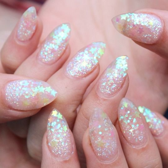 Clear Gel Nail Polish With Glitter