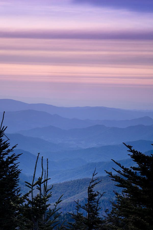 Sunset from the Top of the Blue Ridge Mountains