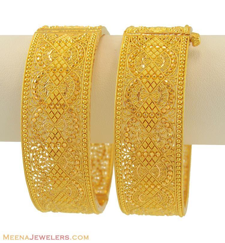 Indian Gold Kadas 22kt Kadas | Bangdi | Pinterest | Gold, Bangle ...