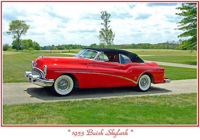 1953 Buick Skylark convertible, top up