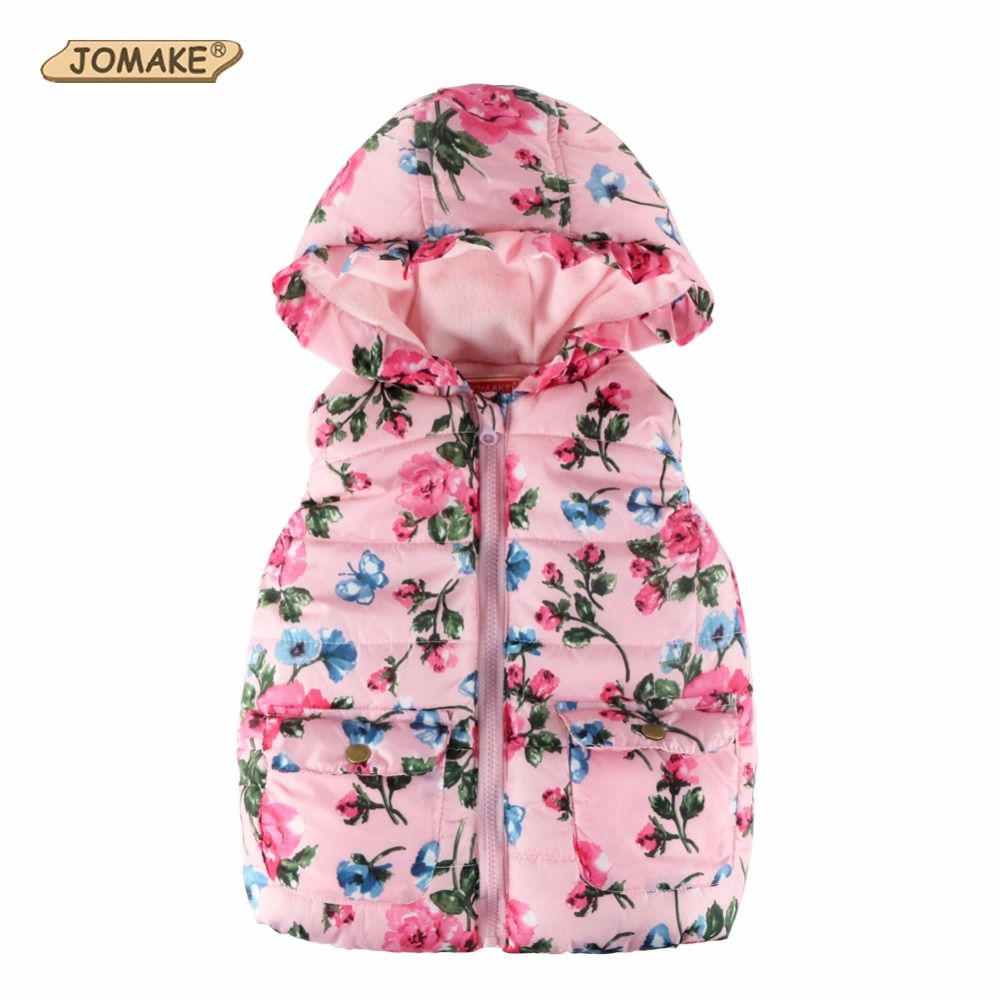 62eba225ea42 New Children Outerwear Baby Girl Fashion Brand Floral Printed Hooded ...