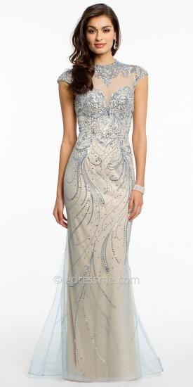 bf1da526d98 Illusion Scroll Rhinestone Evening Dress by Camille La Vie  dress  fashion   designer  camillelavie  edressme