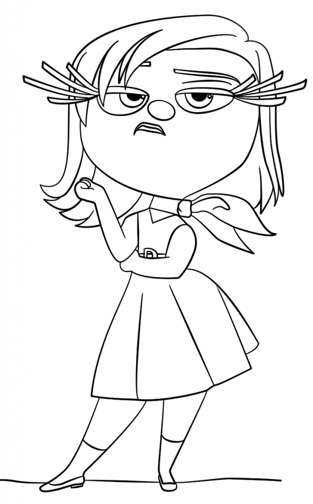 Inside Out Coloring Pages Best Coloring Pages For Kids Inside Out Coloring Pages Cartoon Coloring Pages Mermaid Coloring Pages