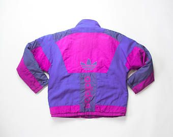 motivo oveja sabio  años 80 Adidas abrigo chaqueta de 1980 trébol entrenador pista chaqueta  cremallera 90s Color bloque hechizo a Cazadora Oldsc… | Ropa, Abrigos y  chaquetas, Chaquetas