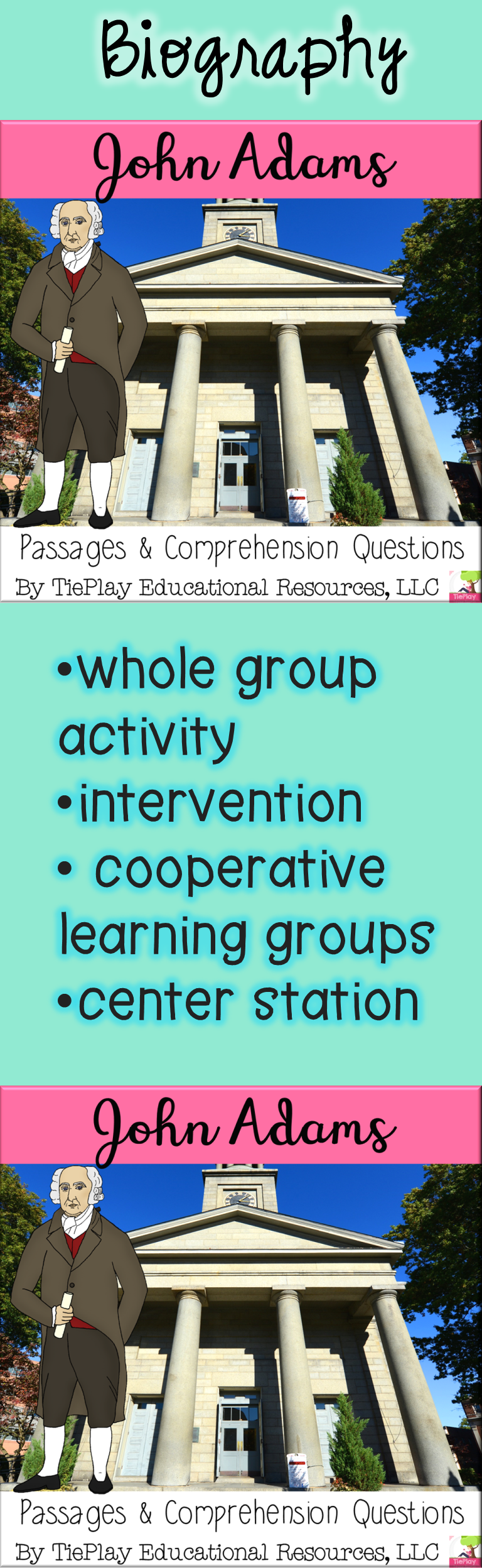 Ben Franklin Nonfiction Passages And Questions In Black And White Print No Prep Cooperative Learning Groups Comprehension Passage This Or That Questions [ 2496 x 768 Pixel ]