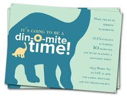 Dinosaur Birthday Party Invitation Wording