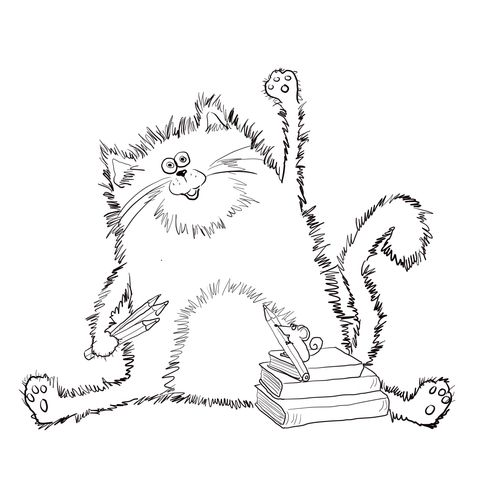 Splat The Cat Coloring Page From Splat The Cat Category Select