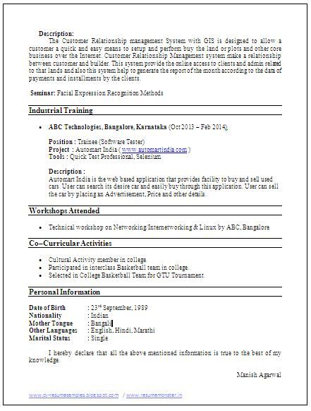 Sample Template Example Of Beautiful Excellent Professional Curriculum Vitae Resume Cv For Curriculum Vitae Resume Career Objectives For Resume Resume Tips