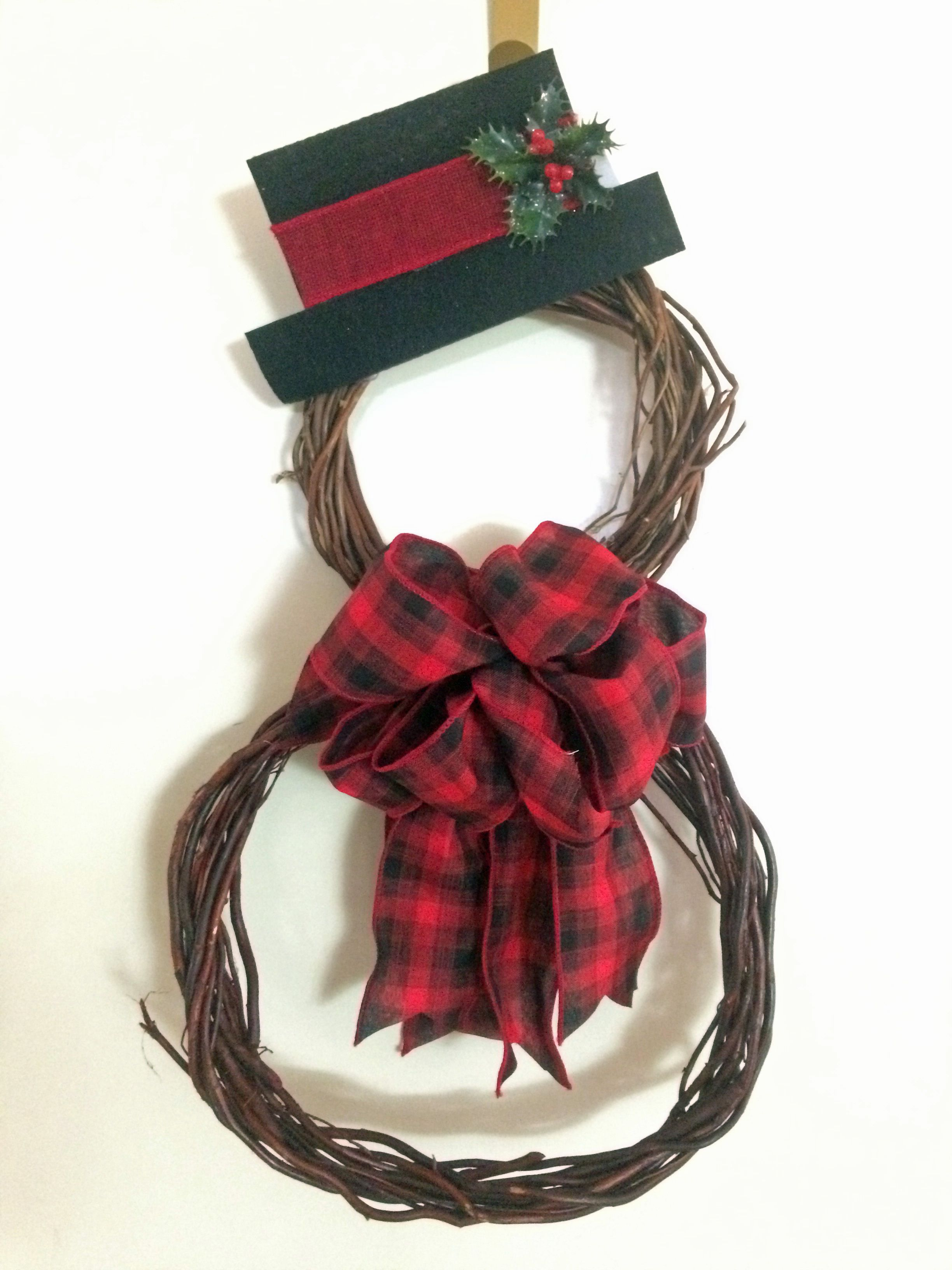 e3f72a124 Made this with 2 grapevine wreaths from the Dollar Tree, use stiff ...