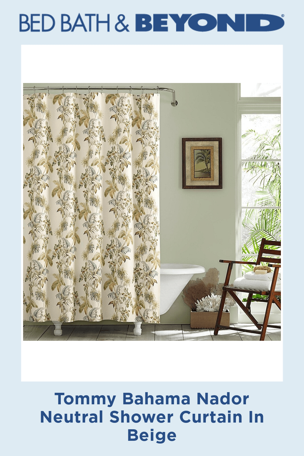 Tommy Bahama Nador Neutral Shower Curtain In Beige