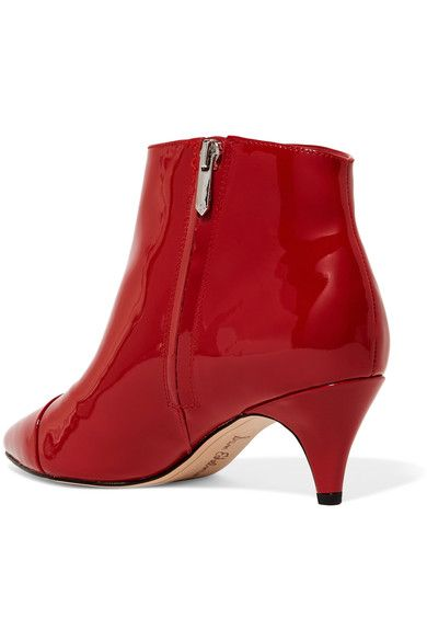 5987d4ced Sam Edelman - Kinzey Patent-leather Ankle Boots - Red