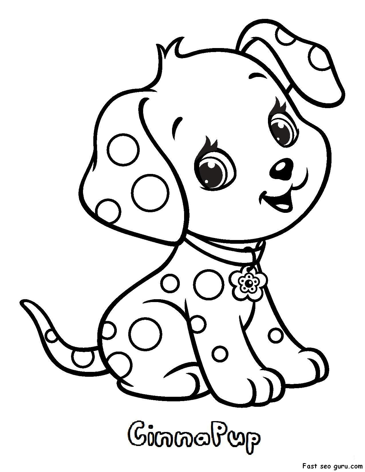 Cat And Dog Coloring Page Youngandtae Com In 2020 Puppy Coloring Pages Dog Coloring Page Cute Dog Drawing