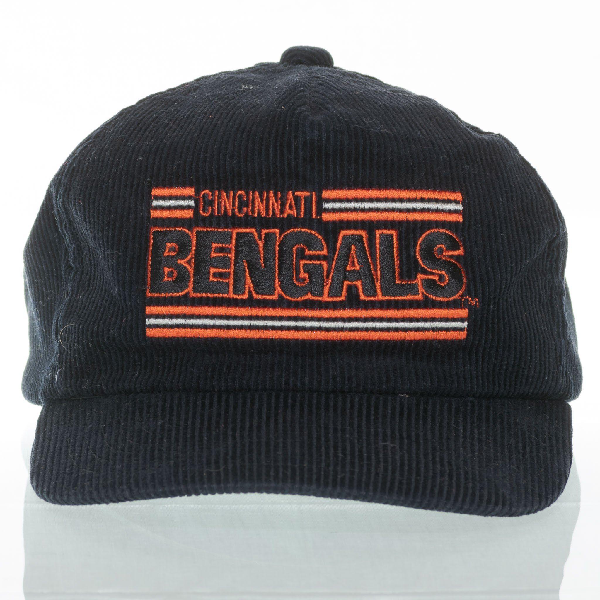 on sale 2a147 6c79e Cincinnati Bengals Snapback Hat Vintage Split Bar Corduroy Drew Pearson One  Size
