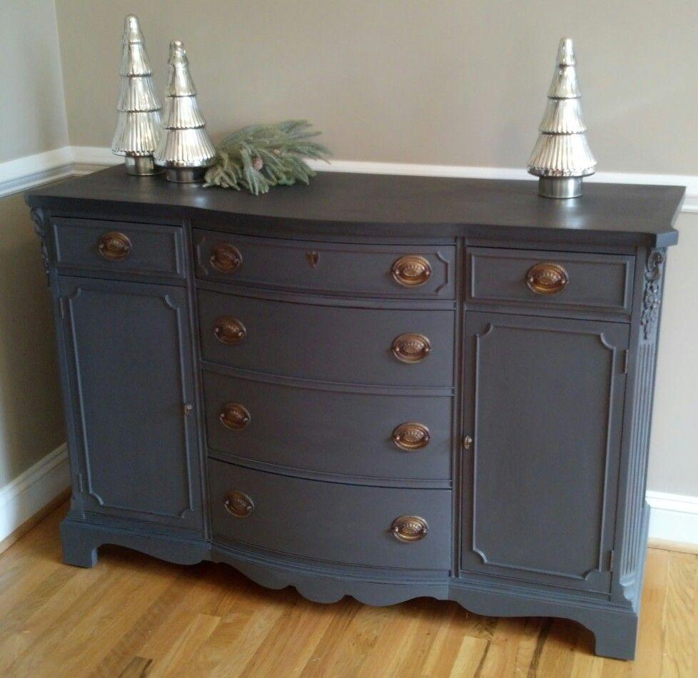bella pittura decor buffet finished in annie sloan graphite french linen custom mix bella. Black Bedroom Furniture Sets. Home Design Ideas