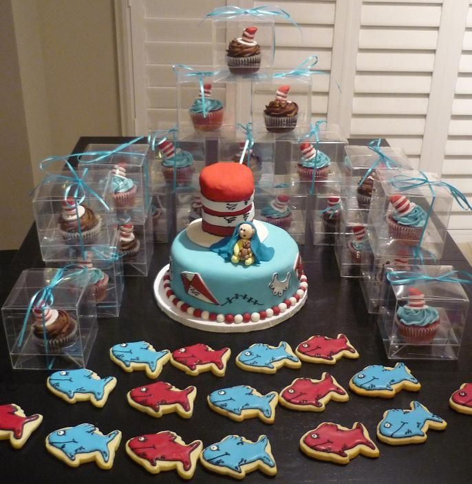 Dr Seuss Baby Shower Cake   Cake, Cupcakes And Cookies. The Hat Is Rice