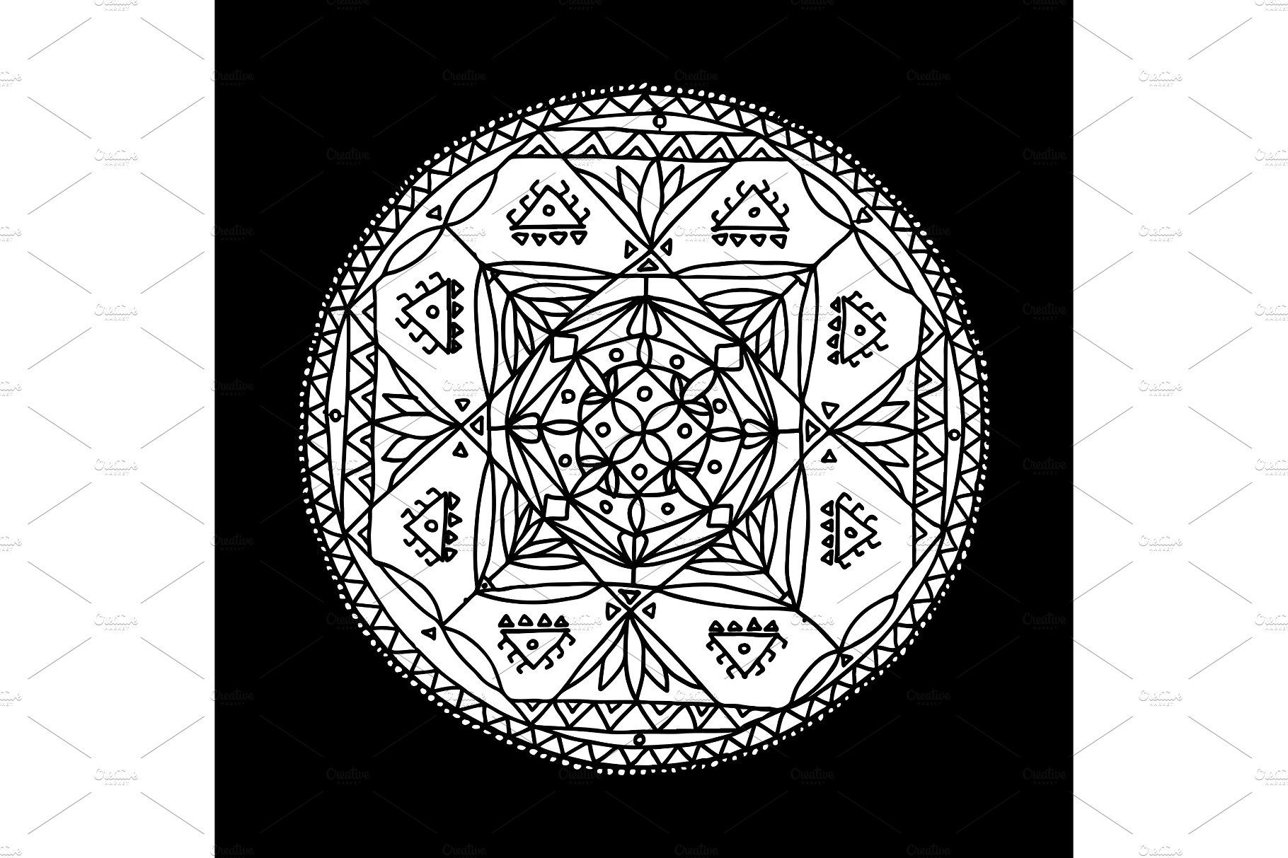 Mandala Ornament, Hand Made Sketch For Your Design  Illustrations