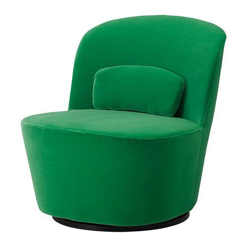 IKEA - STOCKHOLM, Drehsessel, Sandbacka grün, , Durch die Polsterung ...