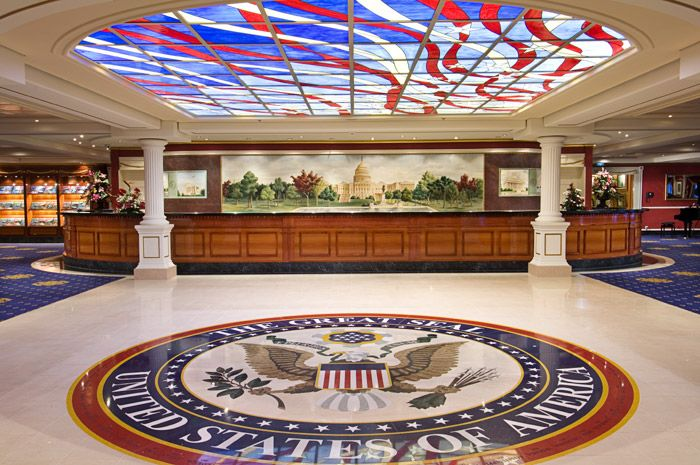 The Guest Services Area Of The Pride Of America Has A WOW Factor - Pride of america cruise ship hawaii