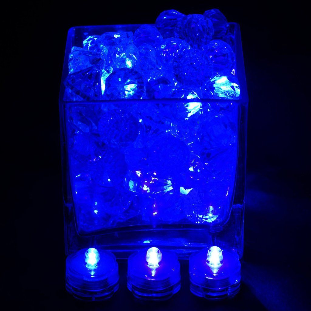 12 Pack Blue Waterproof Battery Operated Submersible Led Lights Centerpieces Centros De Mesa Shabby Chic Mesas Shabby Chic Centros De Mesa