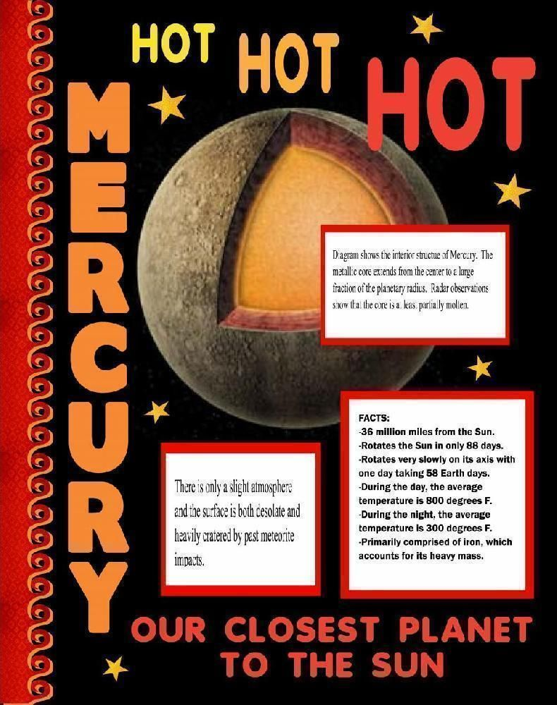 make a science fair project about mercury outer space science make a science fair project about mercury outer space science poster ideas for kids