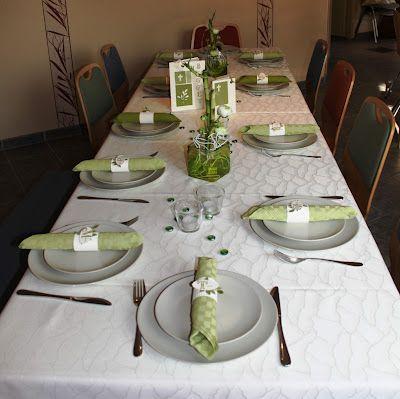 Tischdeko zur Konfirmation  Tischdeko  Tischdeko