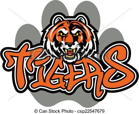 vector tiger mascot design stock illustration royalty free rh pinterest com tiger mascot clipart black and white