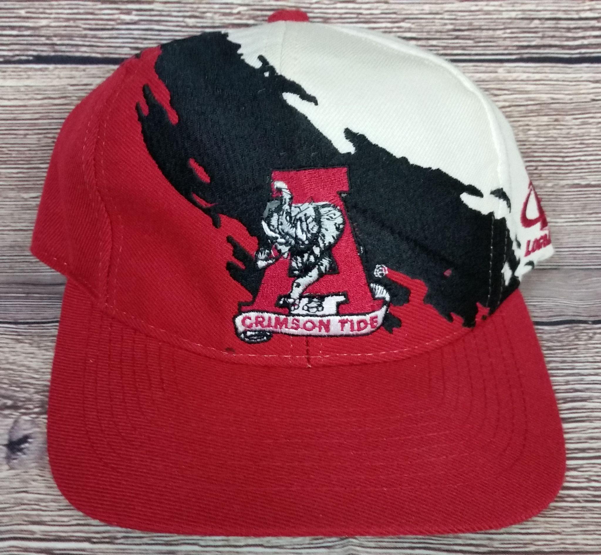 e1347c8ec3ed55 Alabama Crimson Tide Vintage Snapback Logo Athletic Splash Hat NCAA Rare  Cap OG