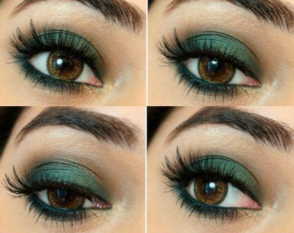 9 Beautiful Makeup Ideas For Green Dress Green Makeup Green