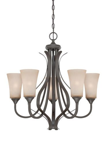Oliver Collection 5 Light 27 Architectural Bronze Chandelier At Menards Dining Room