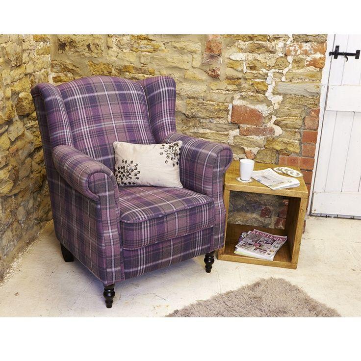 purple tartan chair Google Search Luxury furniture